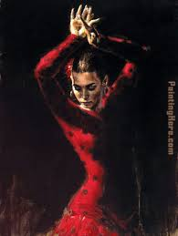 lunaress ii painting flamenco dancer lunaress ii art painting