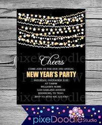 new years eve 2015 invitation. Unique Invitation Digital Printable New Years Eve Invitation Card For 2015  Party  Star Garland Polka Dot Garland 2015 New Years Eve Throughout V