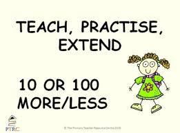 Teacher Powerpoint Teach Practise Extend 10 And 100 More Or Less