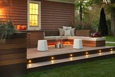 outdoor stair lighting lounge. Outdoor Stair Lighting: Lounge With Garden Deck And Recessed Lighting