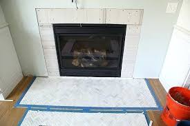 herringbone tile fireplace marble herringbone fireplace hearth carrara white 3d herringbone tile for fireplace surround