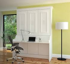 ... Gabriella Full Murphy Bed with Desk | White ...