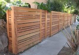 Horizontal Slat Fence FENCE DESIGN GALLERY With Wooden Slatted