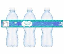 waterbottle labels frozen melted ice water bottle labels instant printable