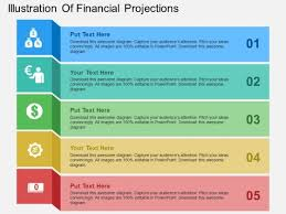 financial projections template illustration of financial projections powerpoint templates