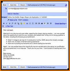 Emailing Resume Resumes Attached And Cover Letter How To Email Your