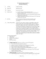 Substitute Teacher Resume Job Description Cover Letter For