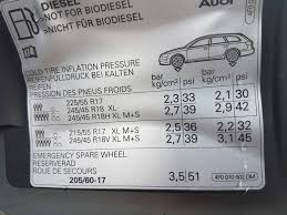 Tyre Pressures On 19s Audi Sport Net