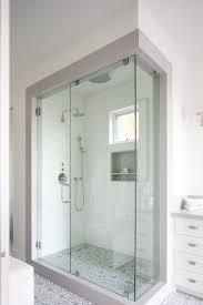 bathroom frameless glass shower door