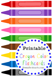 printable color pictures. Exellent Pictures Printable Crayon Color Flashcards For Kids On Pictures O