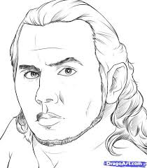 Realistic Jeff Hardy Sketch Printable To Color Famous People