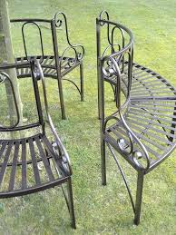 garden furniture antique bronze metal tree seat ornate round seats90 seats