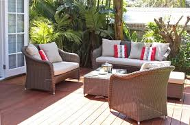 Home Decoration Grey Outdoor Cushion Set For Patio Wicker