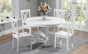 white painted dining table sets
