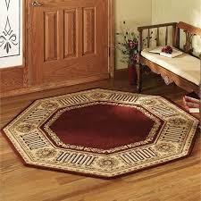 greek key octagonal rug