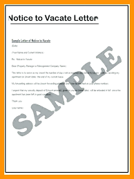 collection of solutions notice to vacate apartment sle letter nice nsw