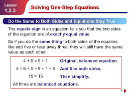 solving one step equations