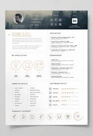 Adobe Resume Template 24 Free Editable Minimalist Resume Cv In Adobe Illustrator And 3