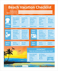 Vacation Checklist Vacation Checklist Template 14 Free Pdf Documents