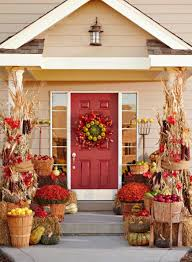 fall front door decorations3 Fun Themes for Fall Door Decorations  Midwest Living