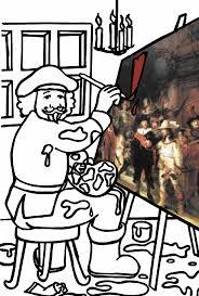 Coloring Page Rembrandt Van Rijn Rembrandt