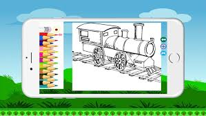 This app offers trains coloring pages featuring travelingtrain characters. Train Coloring Bookpages Free For Kids By Supparerk Jinnikorn