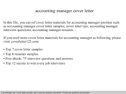 Best Ideas Of Application Letter For Accounting Manager Position