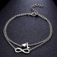 1Pcs New Fashion Women 26 Letters <b>Ankle Bracelet</b> Infinity Symbol ...