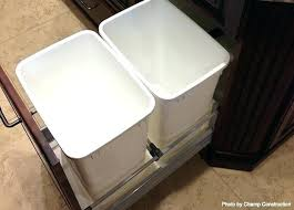 lovely trash can bin garbage chute with lid countertop waste