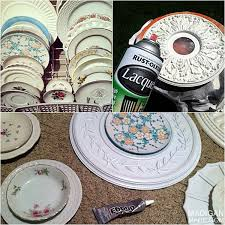 on diy ceiling medallion wall art with my gallery wall plates hoops medallions oh my rosyscription