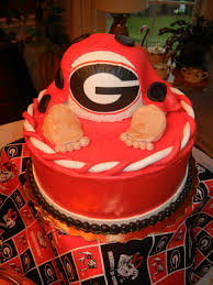 UGA themed baby shower cake | Baby Shower Ideas | Pinterest ...