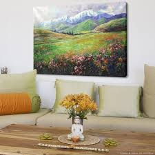 Painting Of Living Room Aliexpresscom Buy Hand Painting Spring Blossoms Natural