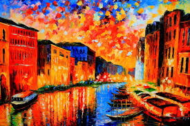 splendid venice beautiful vibrant cityscape oil painting from