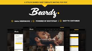 Barber Shop Website Beardz Barbershop Barbers Hair Salon Interactive Template By Dotrex
