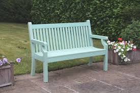 small image of sandwick winawood 2 seater wood effect garden bench duck egg finish