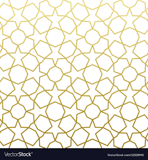 Arabic Patterns Inspiration Arabic Pattern Gold Style Traditional Arab East Vector Image