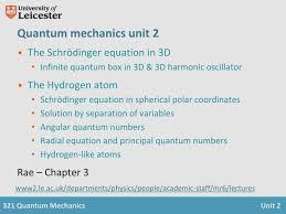 quantum mechanics unit 2 the schrödinger equation