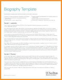 Biography Example Impressive Board Member Biography Template Cassifieldsco