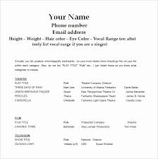 How To Make A Theatre Resume Classy Child Actor Resume Template Luxury Us Resume Format Inspiration