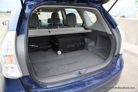 2012 Toyota Prius v, Interior, cargo area, Photography courtesy of ...