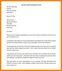formal letter example sample formal congratulations letter template word editable