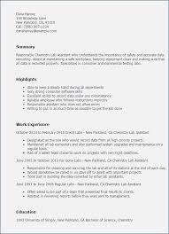 Chemistry Lab Resume Objective Piqqus Com
