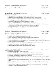 Benefit Manager Resume