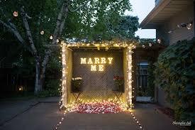 Christmas Light Proposal Surprise Markham Backyard Marriage Wedding Proposal Toronto
