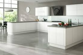 High Gloss Kitchen Floor Tiles Larissa Handleless Gloss Crest Contemporary Kitchen Collection