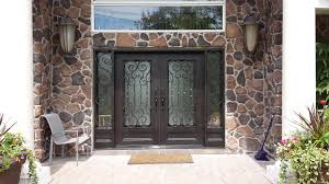 elegant double front doors. New Ideas Elegant Double Front Doors And Replaced With Iron Glass