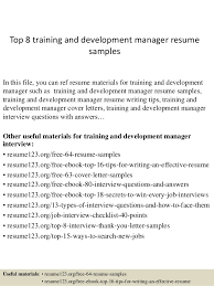 top 8 training and development manager resume samples in this file you can ref resume training resume samples
