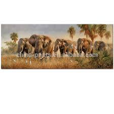 animal canvas wall art elephant oil painting prints african elephant family printing wall decorate on african elephant canvas wall art with animal canvas wall art elephant oil painting prints african elephant