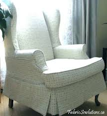 slip cover for wingback chair stretch slipcover wing chair sure fit