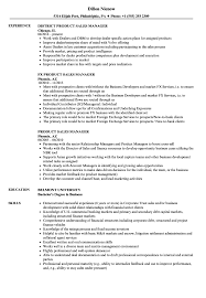 Product Sales Manager Resume Samples Velvet Jobs